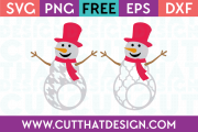 Free SVG Files Snowmen Monogram