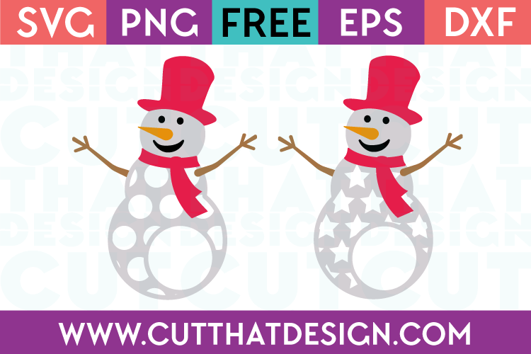 Snowman SVG Patterned Free