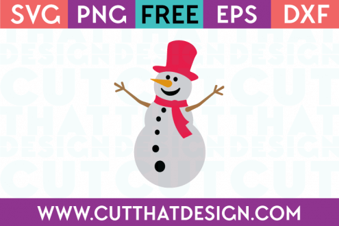 Free SVG Files Snowman and Hat