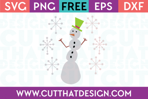 Free SVG Files Snowman and Snowflakes