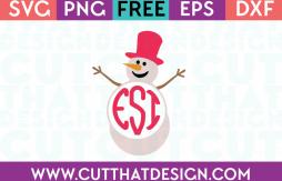 Free SVG Files Snowman Monogram