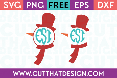 Free SVG Files Monogram Snowman Designs Set