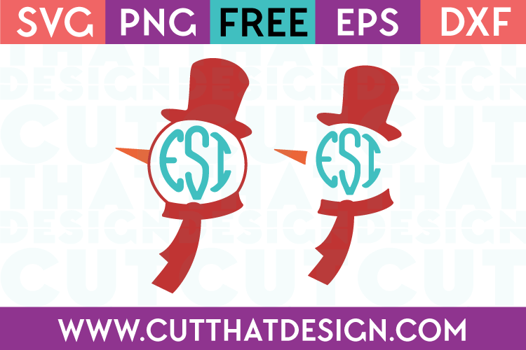 Free Monogram Snowman Designs Set