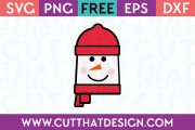 Free SVG Files Snowman Square Head