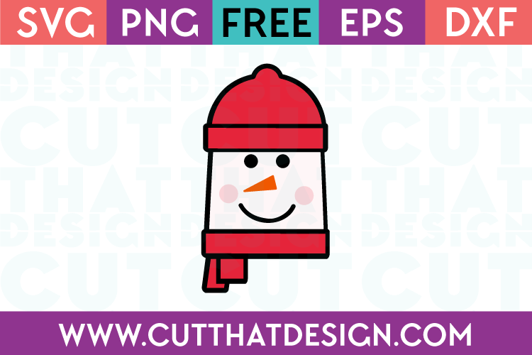 Free Snowman Square Head SVG Cutting File