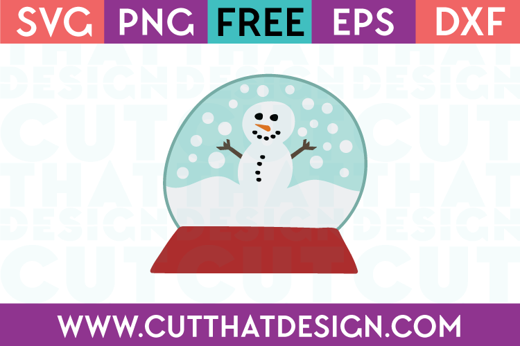 Free Snowman and Snow Globe Free SVG