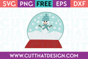Free SVG Files Free Snow Globe with Snowman