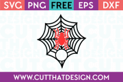 SVG Free Cut Files Spider and Spider Web Monogram