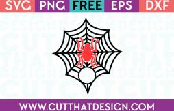 SVG Free Cut Files Spider and Spider Web Monogram