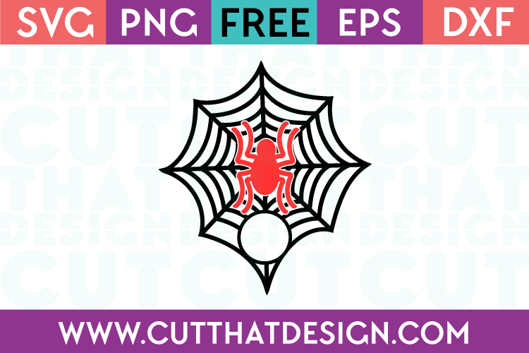 Spider and Spider Web Monogram SVG Free Cut File