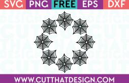 SVG Free Spider Web Circle Frame