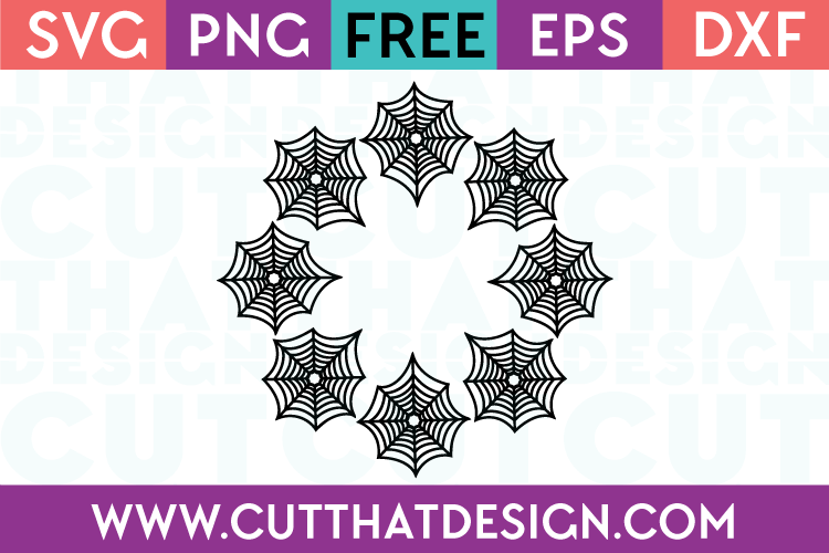 SVG Free Spider Web Circle Frame