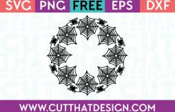 Free SVG Cutting Files Spider Web Circle Frame