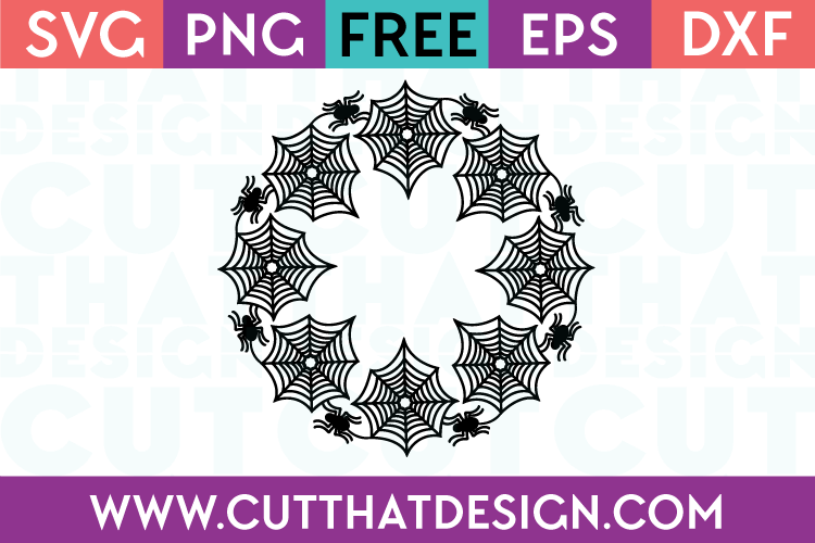 Spider Web Circle Frame Free SVG Cutting Files