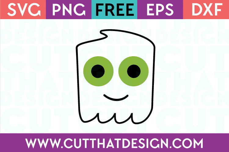 Free SVG Files Ghost Head Design