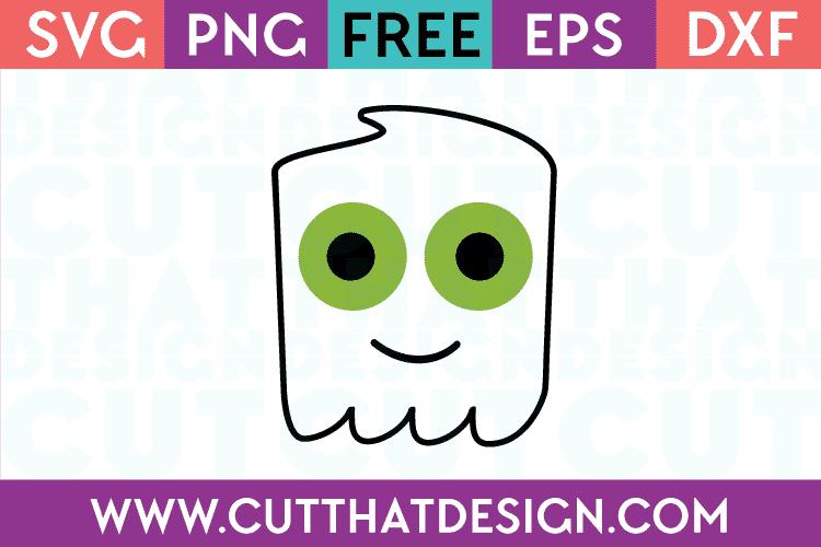 Free SVG Files Ghost Head Design