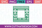 Free Square Frame SVG Aztec