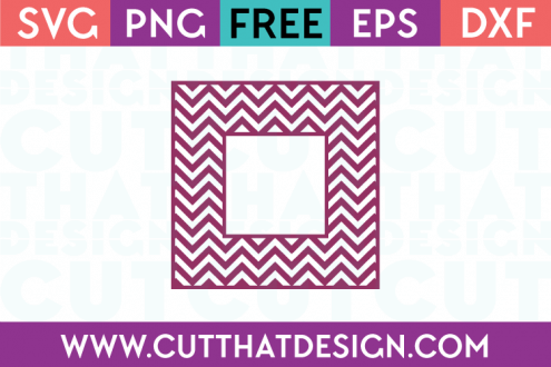 Free Chevron Pattern Monogram Square Frame