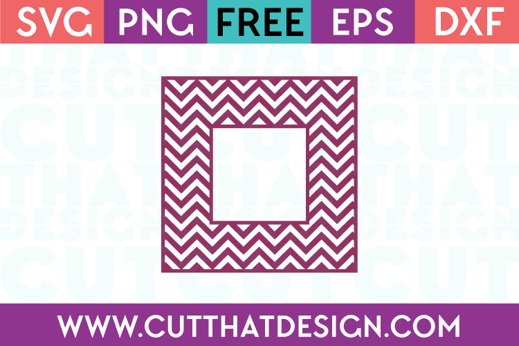 Free SVG Files Chevron Pattern Monogram Square Frame