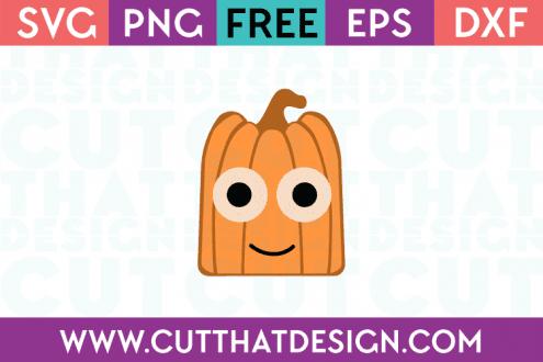 Free Pumpkin Square Head SVG Cut File
