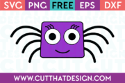 Free Spider Square Head SVG