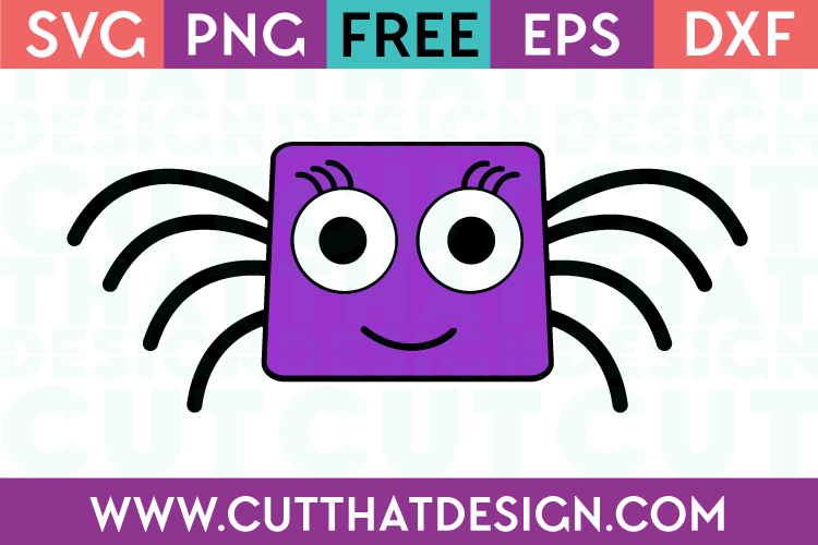 Free SVG Files Spider Square Head