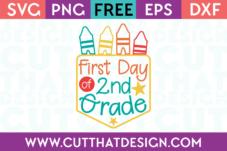 First Day 2nd Grade SVG Free