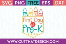 Pre-K Free SVG Cuts