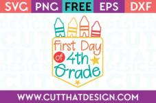 4th Grade Free SVG