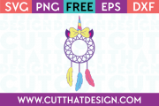 Free Unicorn Dreamcatcher SVG