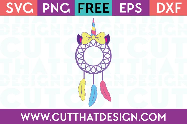 Free Unicorn Dreamcatcher SVG