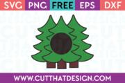 Free Monogram Christmas Tree Designs SVG Download