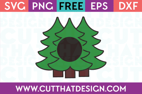 Free Monogram Christmas Tree Designs SVG Download