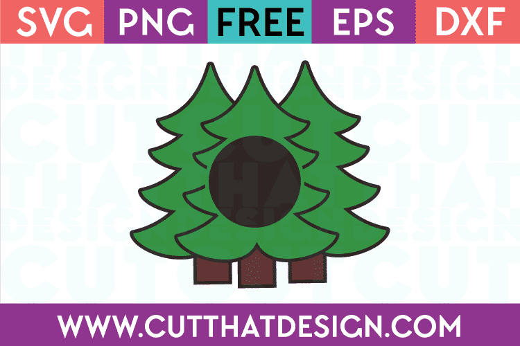 Free SVG Files Triple Christmas Tree Monogram Layered Design