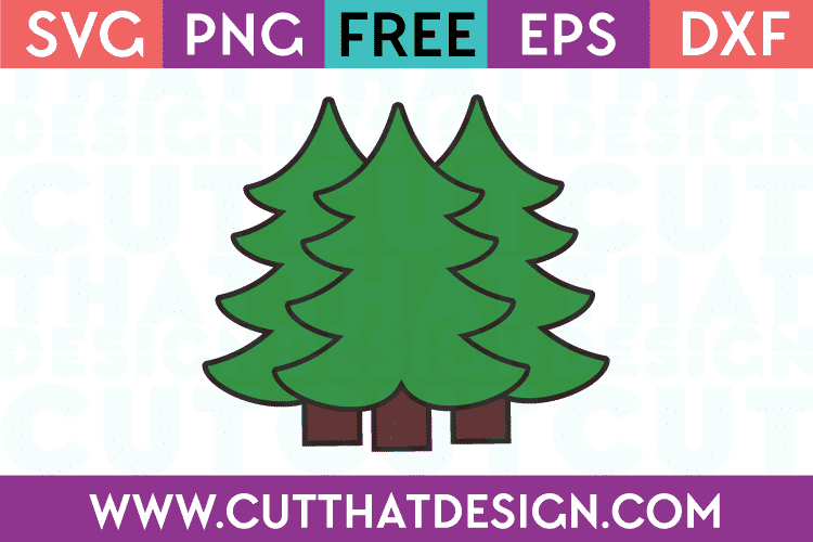Free SVG Files Christmas Trees