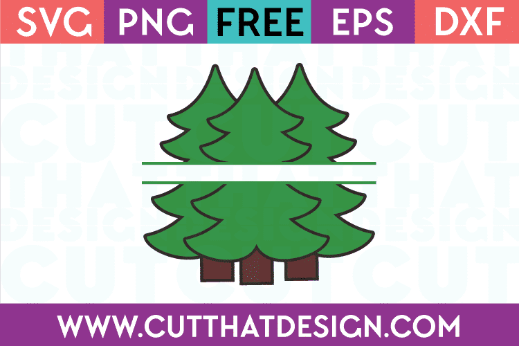 Free SVG Files Triple Christmas Tree
