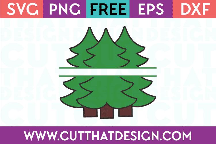 Triple Christmas Tree SVG Free