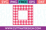 Free SVG Cutting File Houndstooth Square Frame