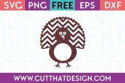Free Cutting File Turkey Monogram