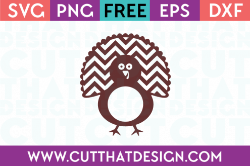 Free Cutting File Turkey Monogram