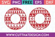 Free SVG Christmas Ugly Sweater Circle Frame