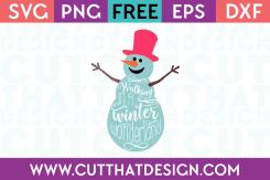Free SVG Walking in a Winter Wonderland Snowman