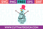 Free SVG Cutting File Snowman Winter Wonderland