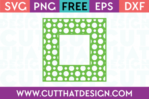 Free SVG Files Polka Dot Pattern Square Frame