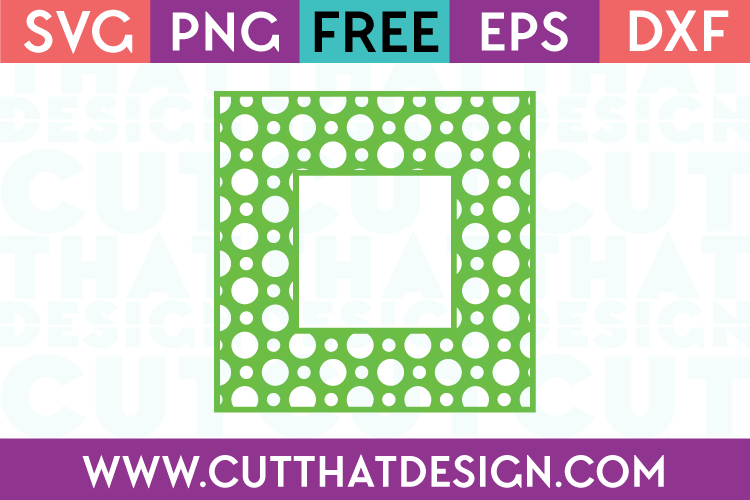 Free SVG Files Polka Dot Pattern Square Frame