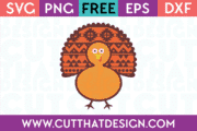 Free SVG Cutting File Turkey Design