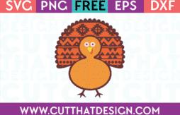 Free SVG Cutting File Turkey Design
