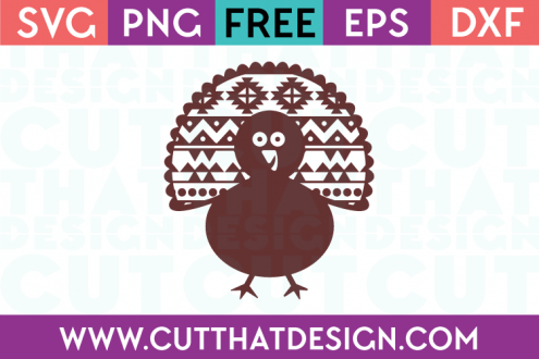 Aztec Pattern Turkey Free SVG Cut File