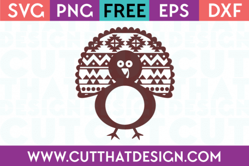 Free SVG Cutting Files Turkey Monogram Aztec