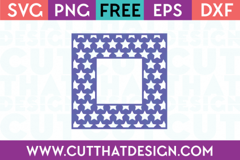 Free SVG Files Free Star Pattern Square Frame
